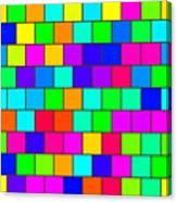 Rainbow Tiles Canvas Print
