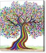 Rainbow Tree Friends  Canvas Print