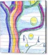 Rainbow Tree Revisited Canvas Print