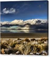 Rainfall Over The Salt Lake Canvas Print