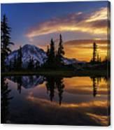 Rainier Sunrise Reflection #2 Canvas Print