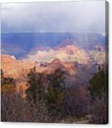 Raining In The Canyon Canvas Print