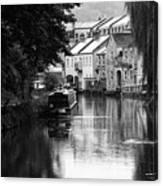 Raining On The Canal Canvas Print