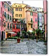 Rainy Afternoon In Vernazza Canvas Print