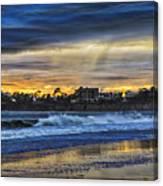 Rainy Beach Canvas Print