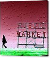 Rainy Day At The Market Canvas Print