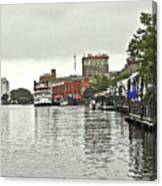 Rainy Day In Wilmington Canvas Print