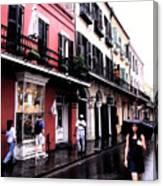 Rainy Day On Bourbon Street Canvas Print