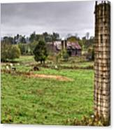 Rainy Day On The Farm Canvas Print