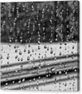 Rainy Day On The Train Canvas Print