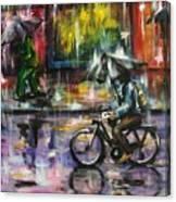 Rainy Day Original Painting Canvas Print