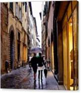 Rainy Day Shopping In Italy 2 Canvas Print