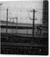 Rainy Day Train Canvas Print