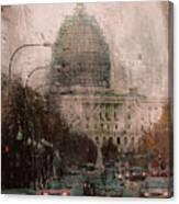Rainy Dc Canvas Print