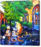 Rainy Dutch Alley Canvas Print