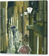 Rainy Evening In Kotor Canvas Print