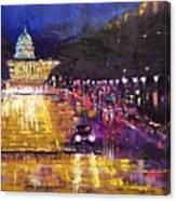 Rainy Evening On Pennsylvania Avenue Canvas Print
