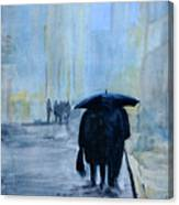 Rainy Evening Walk. Canvas Print