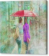 Rainy In Paris 1 Canvas Print