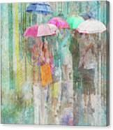 Rainy In Paris 2 Canvas Print
