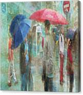 Rainy In Paris 6 Canvas Print