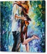 Rainy Kiss Canvas Print