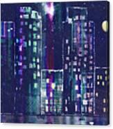 Rainy Night In The City Canvas Print