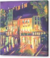 Rainy Night-old Quebec Canvas Print