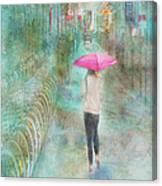 Rainy In Paris 3 Canvas Print