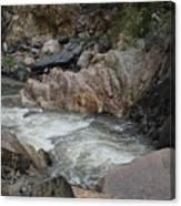 Rainy Rocky Rapids Canvas Print