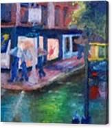 Rainy Soho Canvas Print