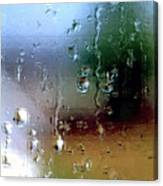 Rainy Window Abstract Canvas Print