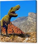 Rajasaurus In The Desert Canvas Print