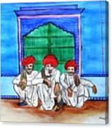 Rajasthani Men Vishranti Canvas Print