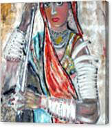 Rajasthani Woman Canvas Print