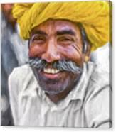 Rajput High School Teacher - Paint Canvas Print