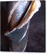 Raku Slab Wrapped Vase Canvas Print