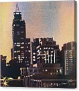 Raleigh Skyscrapers Canvas Print
