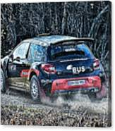 Rally Car Canvas Print