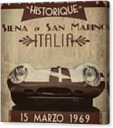 Rally Italia Canvas Print
