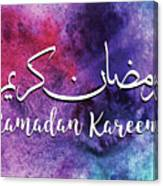 Ramadan Kareem Canvas Print