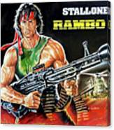 Rambo 2 Sylvester Stallone Paintinf Canvas Print