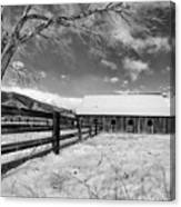 Ranch In Winter Canvas Print