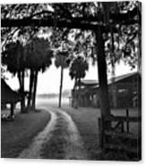 Ranch Life Bw Canvas Print