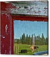 Ranch Reflection Canvas Print