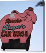 Rancho Super Car Wash  Canvas Print