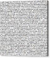 Random Text Canvas Print