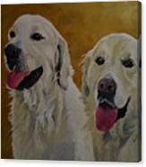 Ranger And Riley Waiting For A Command Canvas Print