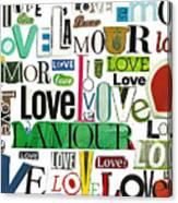 Ransom Art - Love Canvas Print
