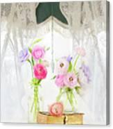 Ranunculus In Window Canvas Print